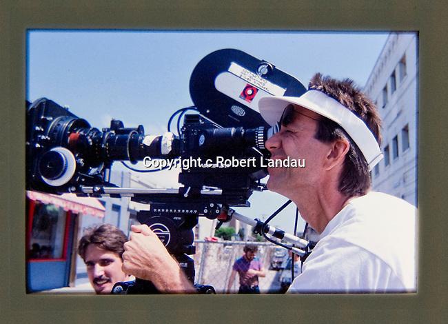 Ray Manzarek of the Doors directing LA Woman video in Venice, CA 1984
