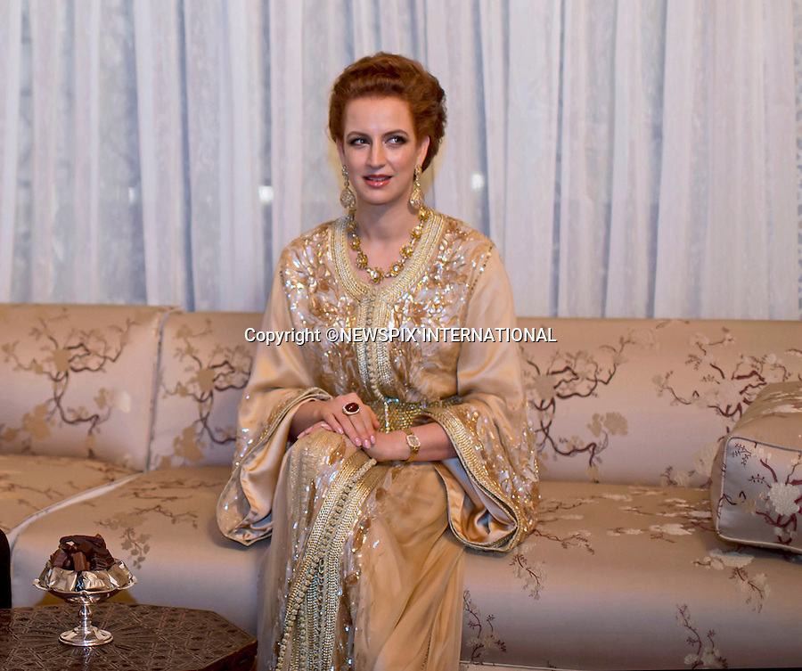 PRINCESS LALLA SALMA<br /> attends Banquet at the Royal Palace, Casablanca, Morocco<br /> King Abdullah II and Her Majesty Queen Rania Al Abdullah were in Morocco on a working visit at an invitation by King Mohammed VI of Morocco_11/3/2015<br /> Mandatory Photo Credit: &copy;Royal Hashemite Court/NEWSPIX INTERNATIONAL<br /> <br /> **ALL FEES PAYABLE TO: &quot;NEWSPIX INTERNATIONAL&quot;**<br /> <br /> PHOTO CREDIT MANDATORY!!: NEWSPIX INTERNATIONAL(Failure to credit will incur a surcharge of 100% of reproduction fees)<br /> <br /> IMMEDIATE CONFIRMATION OF USAGE REQUIRED:<br /> Newspix International, 31 Chinnery Hill, Bishop's Stortford, ENGLAND CM23 3PS<br /> Tel:+441279 324672  ; Fax: +441279656877<br /> Mobile:  0777568 1153<br /> e-mail: info@newspixinternational.co.uk