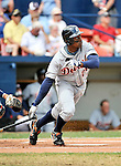 11 March 2008: Detroit Tigers' outfielder Curtis Granderson in action during a Spring Training game against the Cleveland Indians at Chain of Lakes Park, in Winter Haven Florida. The Tigers rallied to defeat the Indians 4-2 in the Grapefruit League matchup....Mandatory Photo Credit: Ed Wolfstein Photo