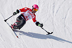 Takeshi Suzuki (JPN),<br /> MARCH 10, 2018 - Alpine Skiing : <br /> Men's Downhill Sitting <br /> at Jeongseon Alpine Centre  <br /> during the PyeongChang 2018 Paralympics Winter Games in Pyeongchang, South Korea. <br /> (Photo by Yusuke Nakanishi/AFLO SPORT)