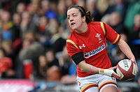 Wales' Elen Evans in action during todays match<br /> <br /> Photographer Ian Cook/CameraSport<br /> <br /> Women's Six Nations Round 4 - Wales Women v Ireland Women - Saturday 11th March 2017 - Cardiff Arms Park - Cardiff<br /> <br /> World Copyright &copy; 2017 CameraSport. All rights reserved. 43 Linden Ave. Countesthorpe. Leicester. England. LE8 5PG - Tel: +44 (0) 116 277 4147 - admin@camerasport.com - www.camerasport.com