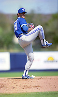 Toronto Blue Jays pitcher Al Leiter (28) during Spring Training 1992 at Chain of Lakes Park in Winter Haven, Florida.  (MJA/Four Seam Images)