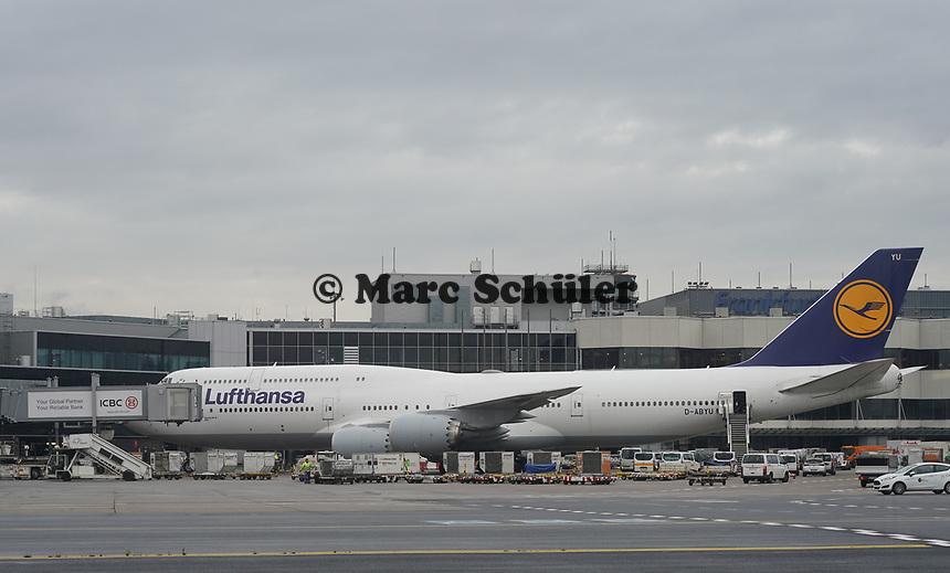 Boeing 747 der Lufthansa am Frankfurter Flughafen - Frankfurt 16.10.2019: Eichwaldschule Schaafheim am Frankfurter Flughafen