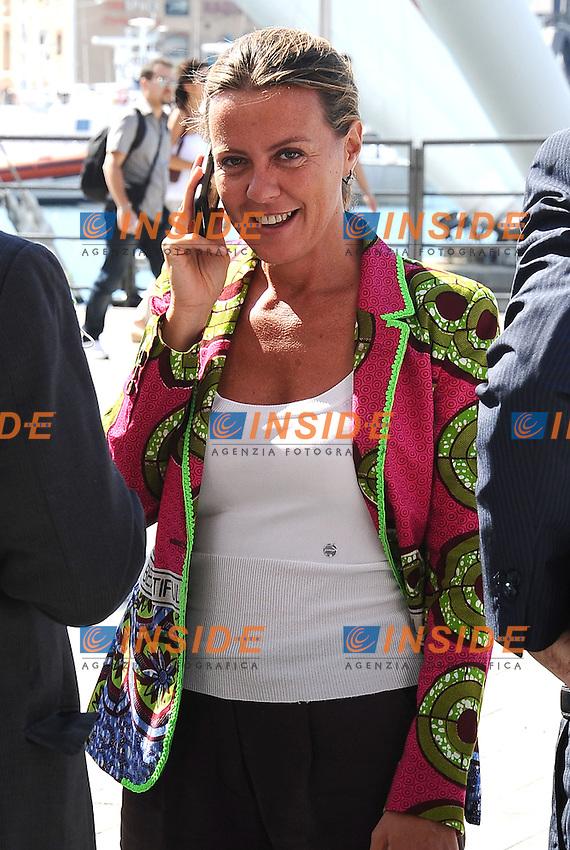 02-09-2013: Genova Festa Nazionale Partito Democratico<br /> Il ministro della Salute Beatrice Lorenzin ospite della Festa Nazionale PD<br /> Foto Genovafoto / Insidefoto