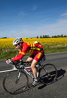 16 MAY 2010 - LYDD, GBR - Chris Saunders - The Marshman Triathlons (PHOTO (C) NIGEL FARROW)