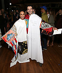 Shina Ann Morris and Kevin Worley attend the Actors' Equity Broadway Opening Night Gypsy Robe Ceremony honoring Kevin Worley from 'Bandstand' at the Bernard B. Jacobs Theatre on 4/26/2017 in New York City.