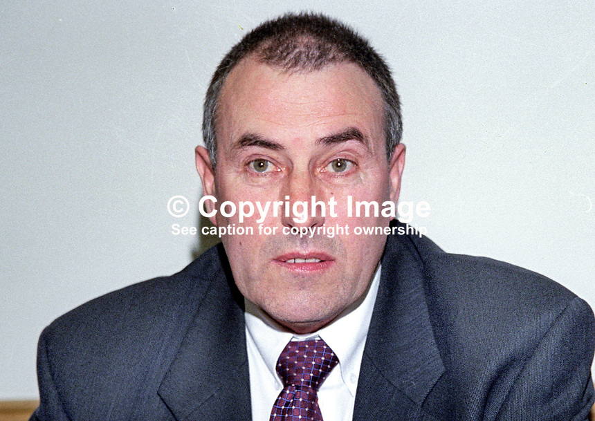 Mitchel McLaughlin, chairman, Provisional Sinn Fein, political wing, Provisional IRA. 199809432.<br />