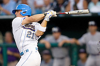 UCLA's Chris Giovinazzo in Game 6 of the NCAA Division One Men's College World Series on Monday June 21st, 2010 at Johnny Rosenblatt Stadium in Omaha, Nebraska.  (Photo by Andrew Woolley / Four Seam Images)