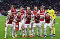 Ajax pictured before AFC Ajax vs Tottenham Hotspur, UEFA Champions League Football at the Johan Cruyff Arena on 8th May 2019