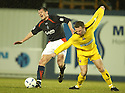 15/03/2005         Copyright Pic : James Stewart.File Name : jspa01_falkirk_v_clyde.NEIL SCALLY AND GRAHAM JONES CHALLENGE....Payments to :.James Stewart Photo Agency 19 Carronlea Drive, Falkirk. FK2 8DN      Vat Reg No. 607 6932 25.Office     : +44 (0)1324 570906     .Mobile   : +44 (0)7721 416997.Fax         : +44 (0)1324 570906.E-mail  :  jim@jspa.co.uk.If you require further information then contact Jim Stewart on any of the numbers above.........A