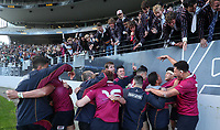Kings College celebrate. Auckland 1st XV Rugby 1A Final, Kings College v St Kents, Eden Park, Auckland, Saturday 24 August 2019. Photo: Simon Watts/www.bwmedia.co.nz