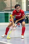 Mannheim, Germany, January 08: During the 1. Bundesliga men indoor hockey match between TSV Mannheim and Mannheimer HC on January 8, 2020 at Primus-Valor Arena in Mannheim, Germany. Final score 5-4. (Photo by Dirk Markgraf / www.265-images.com) *** Tin Nguyen Luong #7 of Mannheimer HC