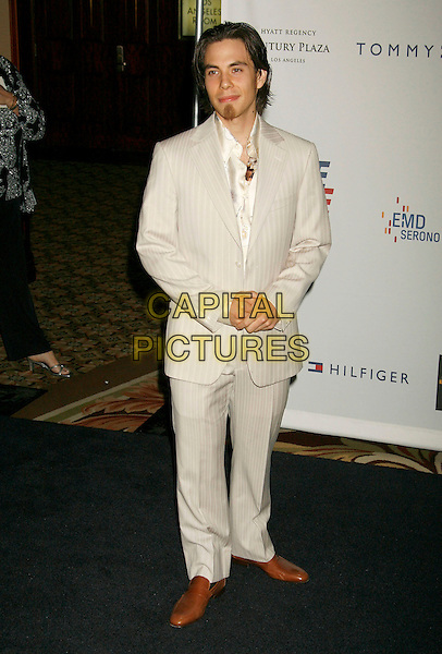 "APOLO ANTON OHNO.14th Annual Race to Erase MS Themed ""Dance to Erase MS"" held at the Century Plaza Hotel, Century City, California, USA, 13 April 2007..full length cream white suit.CAP/ADM/RE.©Russ Elliot/AdMedia/Capital Pictures."