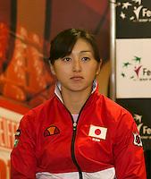 The Netherlands, Den Bosch, 16.04.2014. Fed Cup Netherlands-Japan, Press-conference Japanese team, Misaki DOI<br /> Photo:Tennisimages/Henk Koster