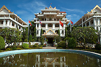 Champasak Palace, in Pakse was a former residence of the Prince of Champasak, Chao Boun Oum. It was built for the prince as a residence but he had to abandon it in 1974, before it was finished.  The Royal Lao government was overthrown by the communist Pathet Lao party and the rest is history. After the revolution, the building was completed and served as a venue for the Communist party congresses and accommodation for visiting dignitaries. The Palace was then converted into a hotel in 1995.