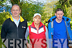Michael, Bernie O'Sullivan and Declan Hayes at the Killarney Hospice Good Friday walk in Muckross..