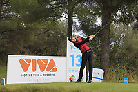 Sebastien Heisele (GER) on the 13th tee during the Pro-Am of the Challenge Tour Grand Final 2019 at Club de Golf Alcanada, Port d'Alcúdia, Mallorca, Spain on Wednesday 6th November 2019.<br /> Picture:  Thos Caffrey / Golffile<br /> <br /> All photo usage must carry mandatory copyright credit (© Golffile | Thos Caffrey)