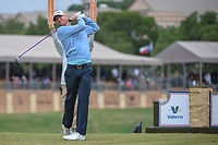 Vaughn Taylor (USA) watches his tee shot on 11 during Round 2 of the Valero Texas Open, AT&T Oaks Course, TPC San Antonio, San Antonio, Texas, USA. 4/20/2018.<br /> Picture: Golffile | Ken Murray<br /> <br /> <br /> All photo usage must carry mandatory copyright credit (© Golffile | Ken Murray)
