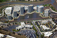 aerial photograph Oracle Corporation corporate headquarters Redwood Shores, San Mateo county, California