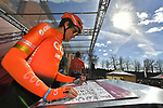 Olympic Champion Greg Van Avermaet (BEL) CCC Team at sign on in Fortezza Medicea before the start of Strade Bianche 2019 running 184km from Siena to Siena, held over the white gravel roads of Tuscany, Italy. 9th March 2019.<br /> Picture: LaPresse/Gian Matteo D'Alberto | Cyclefile<br /> <br /> <br /> All photos usage must carry mandatory copyright credit (© Cyclefile | LaPresse/Gian Matteo D'Alberto)