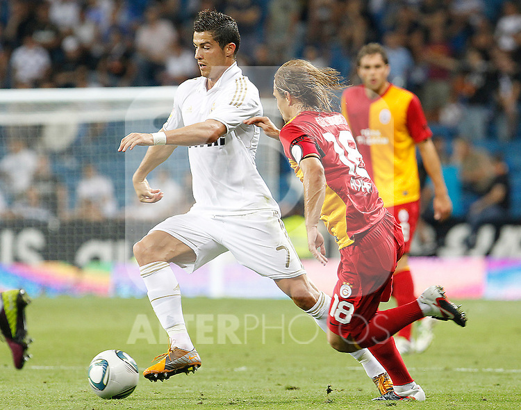 Real Madrid's Cristiano Ronaldo during Santiago Bernabeu Trophy.August 24,2011. (ALTERPHOTOS/Acero)