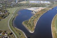 Kreetsand: EUROPA, DEUTSCHLAND, HAMBURG 13.10.2018:   Tiedeelbe Konzept Kreetsand, Hamburg Port Authority (HPA), soll auf der Ostseite der Elbinsel Wilhelmsburg zusaetzlichen Flutraum für die Elbe schaffen. Das Tidevolumen wird durch diese strombauliche Massnahme vergroessert und der Tidehub reduziert. Gleichzeitig ergeben sich neue Moeglichkeiten für eine integrative Planung und Umsetzung verschiedenster Interessen und Belange aus Hochwasserschutz, Hafennutzung, Wasserwirtschaft, Naturschutz und Naherholung.