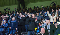 Wycombe supporters during the Sky Bet League 2 match between Notts County and Wycombe Wanderers at Meadow Lane, Nottingham, England on 10 December 2016. Photo by Andy Rowland.