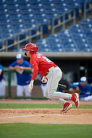 Philadelphia Phillies Hunter Markwardt (26) at bat during an Instructional League game against the Toronto Blue Jays on September 23, 2019 at Spectrum Field in Clearwater, Florida.  (Mike Janes/Four Seam Images)