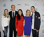 Polina Edmunds - Terry Lundgren - Michelle Kwan - Tina Lundgren - Jason Brown - Skating with the Stars - a benefit gala for Figure Skating in Harlem in its 17th year is celebrated with many US, World and Olympic Skaters honoring Michelle Kwan and Jeff Tweedy on April 7, 2014 at Trump Rink, Central Park, New York City, New York. (Photo by Sue Coflin/Max Photos)