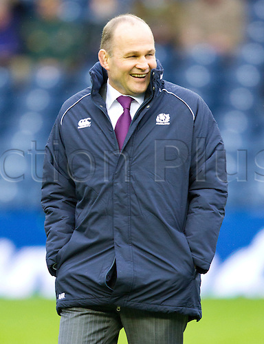 20.11.2010 International Rugby Union from Murrayfield Scotland v South Africa..Scotland manager Andy Robinson in happy mood before the game
