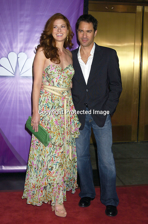 Eric McCormack and Debra Messing..at The NBC Universal Upfront announcement of their new ..Shows on May 16, 2005 at Radio City Musci Hall. ..Photo by Robin Platzer, Twin Images