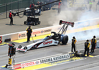Jul 29, 2018; Sonoma, CA, USA; NHRA top fuel driver Steve Torrence during the Sonoma Nationals at Sonoma Raceway. Mandatory Credit: Mark J. Rebilas-USA TODAY Sports