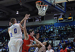 February 4, 2015 - Colorado Springs, Colorado, U.S. -    Air Force players swarm the boards during a Mountain West Conference match-up between the New Mexico Lobos and the Air Force Academy Falcons at Clune Arena, U.S. Air Force Academy, Colorado Springs, Colorado.  Air Force upsets New Mexico 53-49.