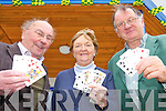 YOUR DEAL: Members of the Listowel Bridge Club who are holding lessons at the Family Resource Centre every Monday night, l-r: Ned Carey, Marie Galvin, Tom Pierce.
