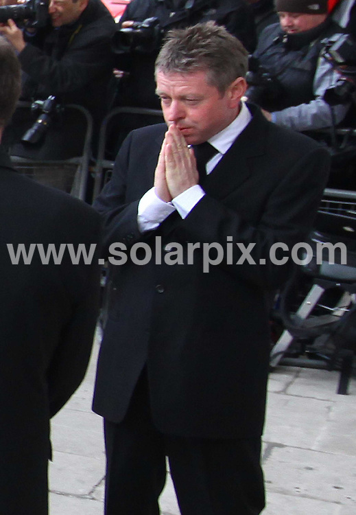 **ALL ROUND PICTURES FROM SOLARPIX.COM**.**NO UK NEWSPAPER PUBLICATION**.**UK MAGAZINE & SUPPLEMENT PUBLICATION ONLY** AND NO PUBLICATION IN AUSTRALIA, FRANCE, GERMANY, ITALY AND SCANDINAVIA** .The funeral of the long running UK TV soap Eastenders actress Wendy Richards, which took place at the St Marylebone Parish Church in central London this afternoon. London, UK. 09_03_2009..This pic: Wendy's husband John Burns..JOB REF: 8618 SFE       DATE: 09_03_2009.**MUST CREDIT SOLARPIX.COM OR DOUBLE FEE WILL BE CHARGED**.**ONLINE USAGE FEE GBP 50.00 PER PICTURE - NOTIFICATION OF USAGE TO PHOTO @ SOLARPIX.COM**.**CALL SOLARPIX : +34 952 811 768 or LOW RATE FROM UK 0844 617 7637**