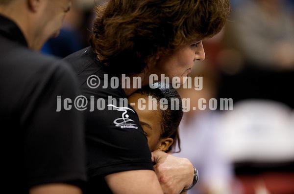 06/05/08 - Women's VISA Championships Agganis Areana in Boston Univeristy.  Jr Women Day 1. Gabrielle Douglas