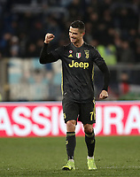 Football, Serie A: S.S. Lazio - Juventus, Olympic stadium, Rome, January 27, 2019. <br /> Juventus' Cristiano Ronaldo celebrates after winning 3-1 the Italian Serie A football match between S.S. Lazio and Juventus at Rome's Olympic stadium, Rome on January 27, 2019.<br /> UPDATE IMAGES PRESS/Isabella Bonotto