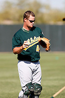 Petey Paramore - Oakland Athletics - 2009 spring training.Photo by:  Bill Mitchell/Four Seam Images