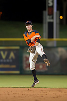 AZL Giants second baseman Kyle McPherson (7) warms up between innings during a game against the AZL Angels on July 10, 2017 at Scottsdale Stadium in Scottsdale, Arizona. AZL Giants defeated the AZL Angels 3-2. (Zachary Lucy/Four Seam Images)