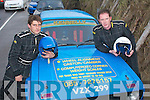BELTS ON: Getting ready to go flat-out at the Kerry motor club mini stages car rally sponsored and based in Banna beach hotel last Sunday were Eddie Kennelly and TP McNamara from Listowel.   Copyright Kerry's Eye 2008