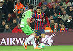 08.01.2014 Barcelona, Spain. Spanish Cup 1/8 Final. Picture show Pedro (R) and Valera (L) in action during game between FC Barcelona against Getafe at Camp Nou