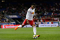 Harrison, NJ - Tuesday April 10, 2018: Michael Murillo during leg two of a  CONCACAF Champions League semi-final match between the New York Red Bulls and C. D. Guadalajara at Red Bull Arena. C. D. Guadalajara defeated the New York Red Bulls 0-0 (1-0 on aggregate).
