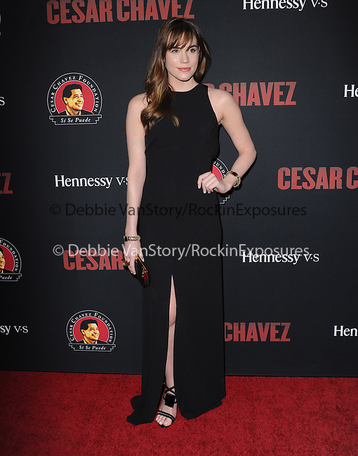 Christa B. Allen attends The  Cesar Chavez Los Angeles Premiere held at TCL Chinese Theatre in Hollywood, California on March 20,2014                                                                               © 2014 Hollywood Press Agency
