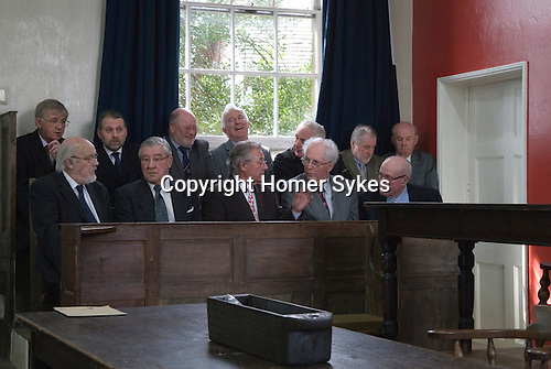 Barmote Court. Moot Hall Wirksworth Derbyshire. The Jury, taken immediately before the Barmote Court opened. 2015