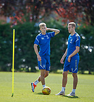 10.08.18 Rangers training: Ross McCrorie and Zac Rudden