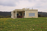 Israel, Upper Galilee, the forester house on Mount Meron