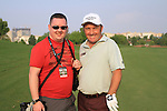Damien McGrane with Golffile photographer Fran Caffrey out on course during Practice Day 1 of the Dubai World Championship, Earth Course, Jumeirah Golf Estates, Dubai, 23rd November 2010..(Picture Eoin Clarke/www.golffile.ie)