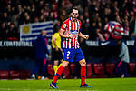 Diego Roberto Godin Leal of Atletico de Madrid celebrates  scoring the goal during the La Liga 2018-19 match between Atletico de Madrid and Athletic de Bilbao at Wanda Metropolitano, on November 10 2018 in Madrid, Spain. Photo by Diego Gouto / Power Sport Images