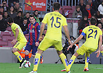 11.02.2015 Barcelona, Spain. Spanish Cup , Semi-final. Picture show Leo Messi in Action during game between FC Barcelona against Villareal at Camp Nou