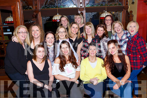 Sharon O'Riordan, Ballyhar celebrated her hen party with her gal pals in the Laurels bar and restaurant Killarney on Saturday night